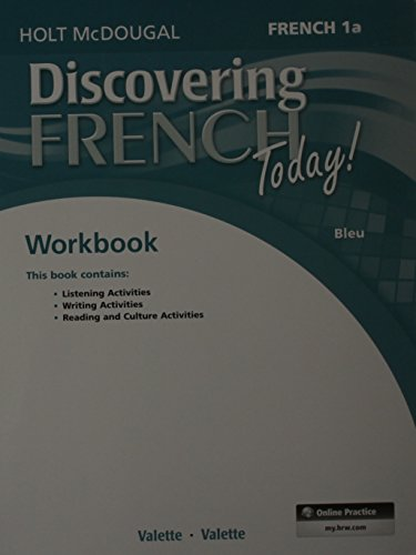 - Discovering French Today: Student Edition Workbook Level 1A (French Edition)