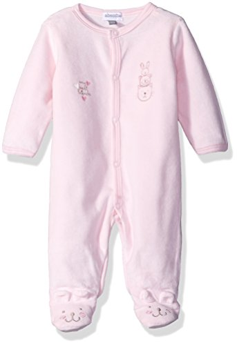 absorba Baby Girls' Velour Footie