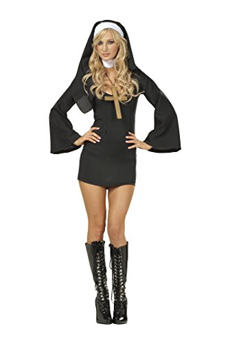 RG Costumes Women's Sexy Nun, Black, 8-10/Large