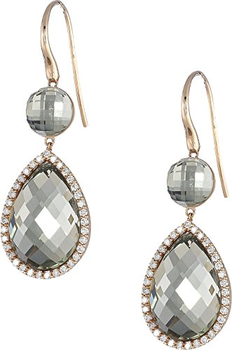 Roberto Coin Women's Cocktail Collection Earrings 18Kt Green Amethyst One Size (Ring Green Roberto Coin)
