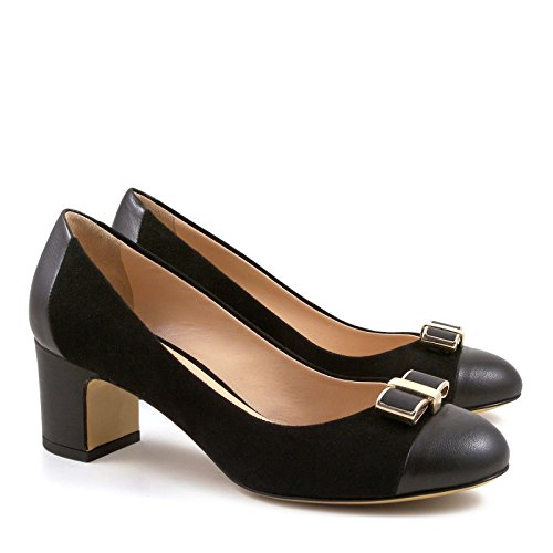 Leonardo Shoes Damen 4003nappanero Schwarz Pumps