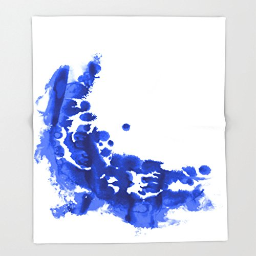 Society6 Paint 9 abstract indigo watercolor painting minimal modern canvas affordable dorm college art Throw Blankets 88'' x 104'' Blanket