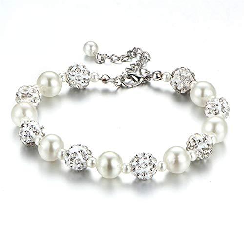 VWH Creative Elegant Crystal Bracelet for Women Wedding Bridesmaids
