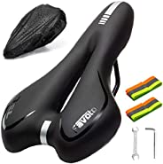 Favoto Bike Seat Soft Cushion Universal Fit Replacement Bicycle Saddle Ergonomics Design for Indoor Outdoor Ex