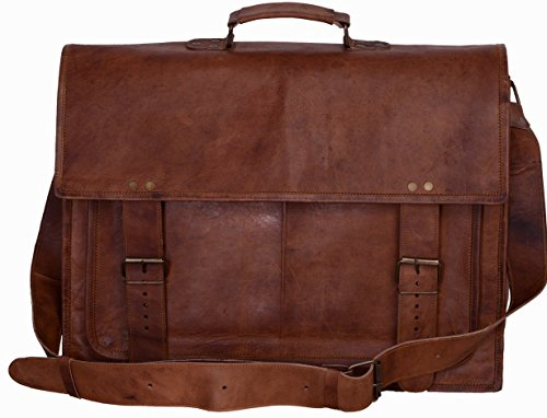 Komal's Passion Leather 16 Inch Genuine Business Leather Laptop Messenger Bag