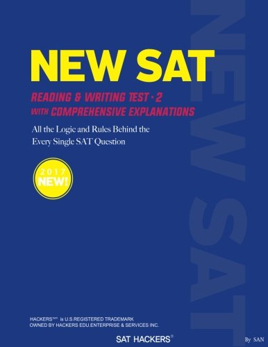 NEW SAT Practice Test 2: +70 SAT HACKERS RULES for the Sentence Error Questions that Appear Always on NEW SAT (Volume 1)
