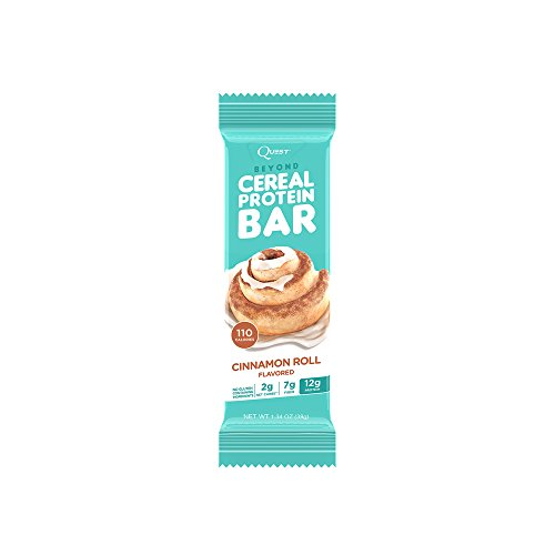Quest Nutrition Beyond Cereal Protein Bar, Cinnamon Roll, 12g Protein, 2g Net (Cinnamon Bar)