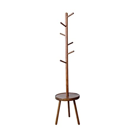 Amazon.com: Perchero de pie vertical de madera maciza con ...