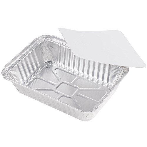 Rectangular Disposable Aluminum Foil Pan Take Out Food