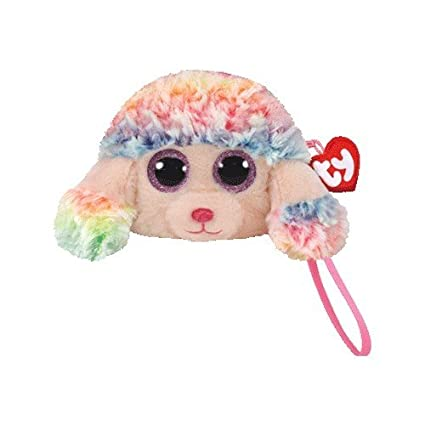 a2fdc781e2e Amazon.com  Ty Beanie Babies Ty Gear 95200 Rainbow the Poodle Boo Wristlet   Toys   Games