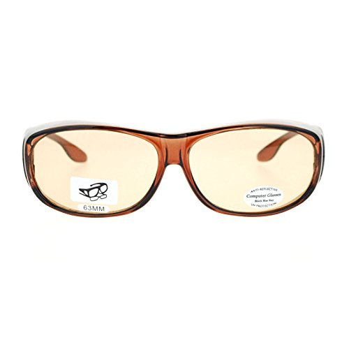 de74a1be2362 new Fit Over 63mm UV Vision Protection Anti Reflective Computer Glasses