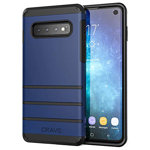 S10 Case, Crave Strong Guard Heavy-Duty Protection Series Case for Samsung Galaxy S10 - Navy