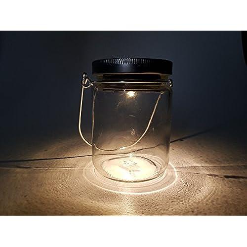 De Verre Solaire – 4 Bocal Lampe Led Lanterne Lot xQeroWdCB