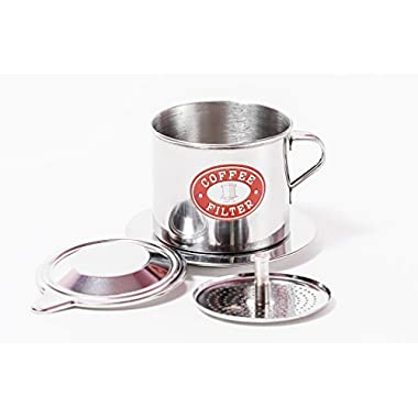Vietnamese Coffee Filter Press. Screw Down Insert. Dripper Mechanism. Made in Vietnam. Sizes S, M, or L in 1, 2 or 3 pack (1, Medium (8 oz))