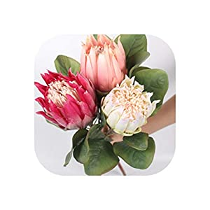 Silk Single Emperor Flower Two Sizes Choose Artificial Flower European Style Wedding Decoration for Home Garden Hotel Decor 1Pcs 90