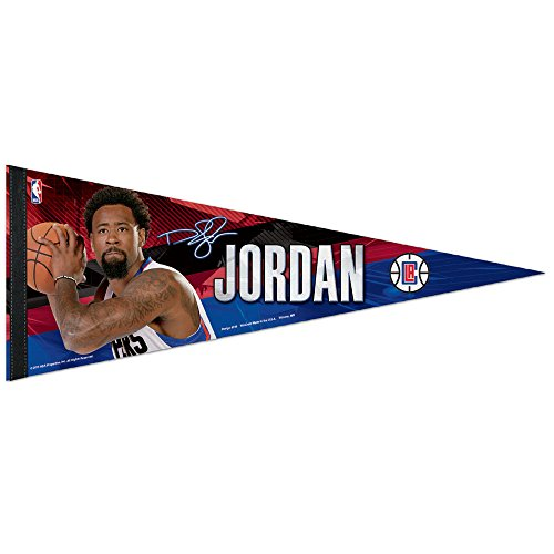 WinCraft NBA Los Angeles Clippers DeAndre Jordan Premium Pennant, 12 x 30-Inch by WinCraft