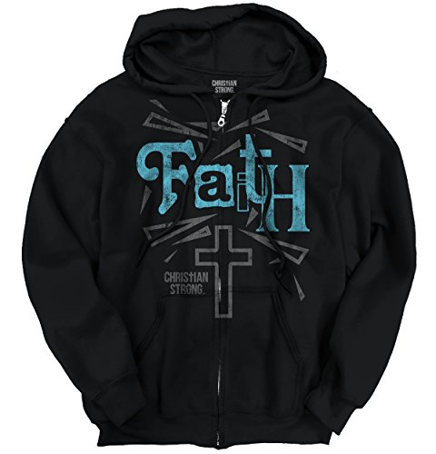 Faith Cross Christian T Shirts Jesus Christ Cross Gift Ideas Zipper Hoodie