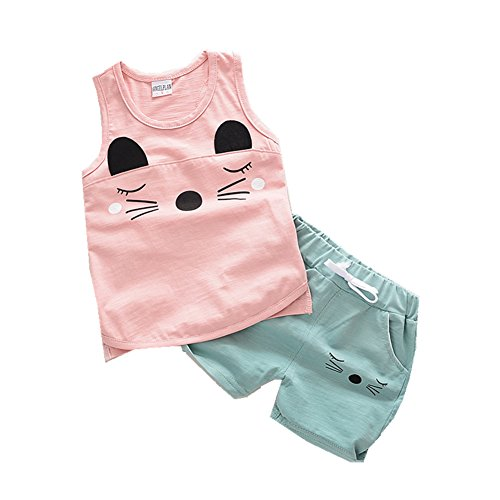 ftsucq-little-boys-girls-cartoon-cat-kitty-vest-two-pieces-shorts-setspink-110