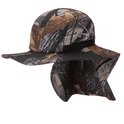 435459b8a9197 Moon Kitty Men s Outdoor Sun Protection Fishing Cap Wide Brim Neck Flap Hat  for Men