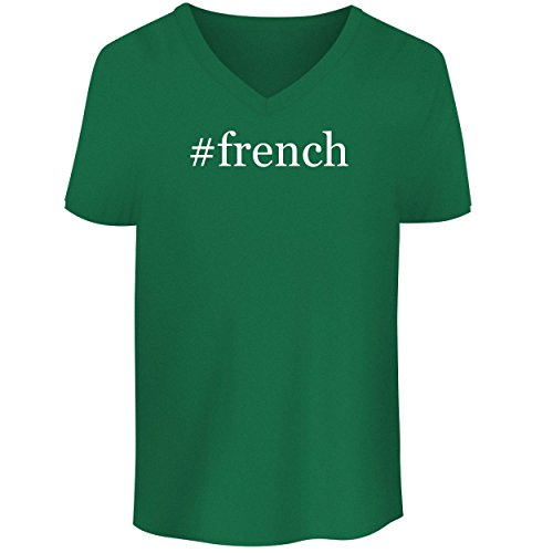 Price comparison product image BH Cool Designs French - Men's V Neck Graphic Tee,  Green,  Small