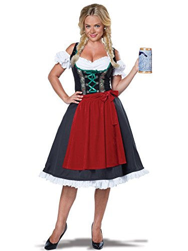 California Costumes Women's Oktoberfest Fraulein Costume, Black/Red Large -