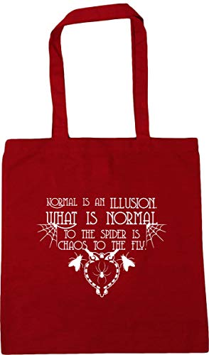 Gym HippoWarehouse 10 Tote Bag 42cm x38cm Chaos What The Normal An Illusion Shopping Beach Red To Fly Normal Is The To Is Spider Is litres Classic BxTqBr