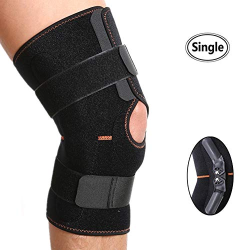 319e5245c3 Knee Brace, 1PC Compression Open-Patella Stabilizer Breathable Hinged Knee  Sleeve with Adjustable Strap Knee Support for Sports, Running for Men &  Women ...