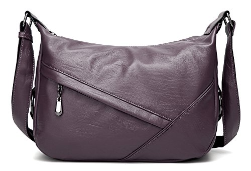 in a PU Viola borsa Borsa Molode tracolla grande a pelle tracolla Donna 8OqgYwAd