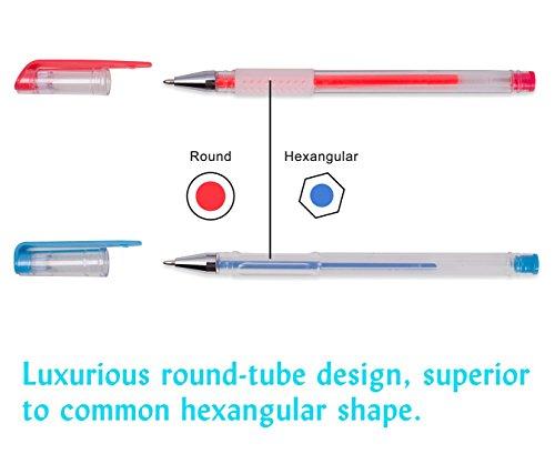 Shuttle Art 260 Colors Gel Pens Set 220% Ink Gel Pen for Adult Coloring Books Art Markers 130 Colored Gel Pens Plus 130 Refills by Shuttle Art (Image #8)