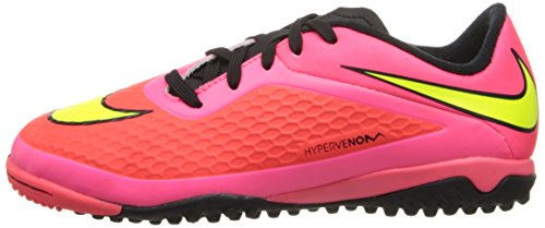 Nike JR Hypervenom Phelon TF Kinder Fussballschuhe bright crimson-volt-hyper punch-black - 36,5
