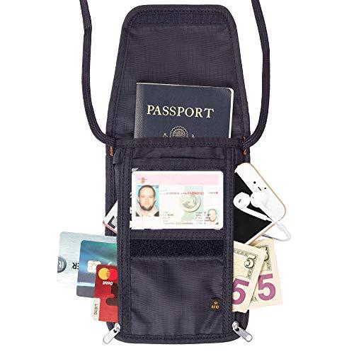 RFID Passport Holder & Neck Wallet / Neck Stash