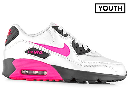 on sale cd8e1 916a0 Galleon - Nike Air Max 90 LTR (GS) Big Kid s Shoes Metallic Silver Hyper  Pink 833376-004 (6 M US)