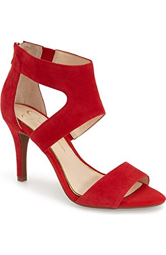 Jessica Simpson Womens Mekos Dress Pump Rossetto-pelle Scamosciata Rossetto Suede