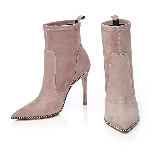 Femme pour Bottes Pelle Taupe Moda in pqg0ff