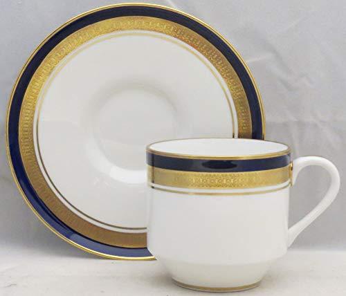 Aynsley, John Cobalt Royale Flat Cup & Saucer Set (Angular Base)
