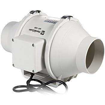Honu0026Guan 4 Inch Inline Duct Fan Exhaust Fan Mixed Flow Inline Fan  Hydroponic Air Blower For