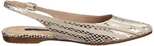 Tamaris 29401 - Zapatos de Talón Abierto Mujer Plateado - Silber (SIL.SNAKE COMB 922)