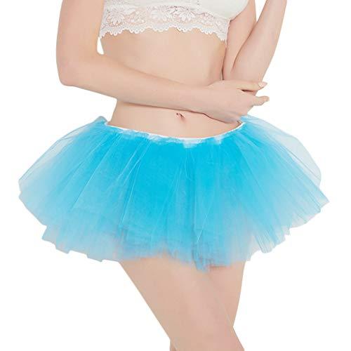 Faldas De Cortas Sólido La Plisada Tul Fiesta Holatee Rodilla Azul Gasa Longitud Mujer Color Vestidos qUFqnr1S