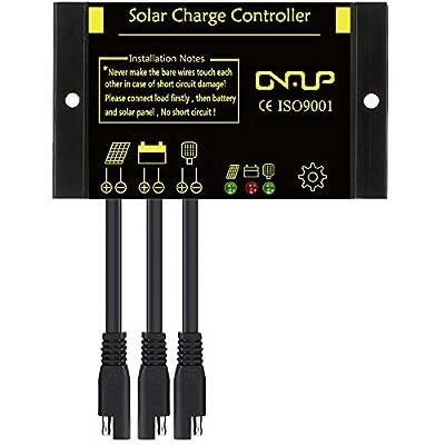 SUNER POWER Waterproof Solar Charge Controller - Intelligent12V/24V Solar Panel Battery Regulator