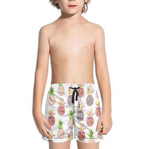 - LKIMNJ Boys Board Shorts Summer Fruits Pineapple Quick Dry Bathing Suits Beach Board Shorts