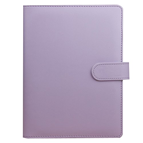 Dasior 2 Pack Hardcover Notebook, Faux Leather Cover Business Notebook Notepad with Pen Holder Card Pocket, A6 Lilac by Dasior (Image #3)'