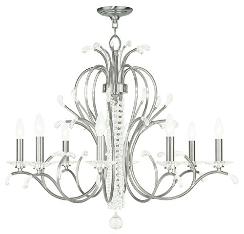Livex Lighting 51008-91 Serafina 8-Light Chandelier, Brushed Nickel