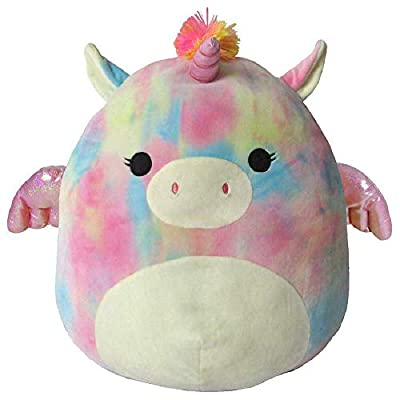 Squishmallow–Jaime the Tie-Dyed Pegacorn–16 inches: Toys & Games