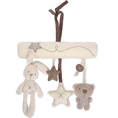 Hot Bed Bell Developmental Toy Kids Baby Soft Toy Animal Handbells Rattle Toy B