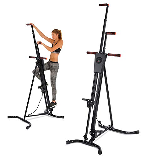 fastUU Climbing Machine with Resistance Band, Vertical Climber for Home&Office Exercise – Stair Stepper for Full Total Body Workout
