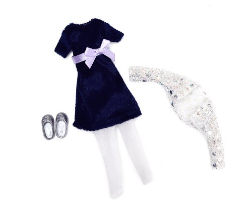 Lottie Blue Velvet Doll Outfit (Shoes Velvet Doll Heels)
