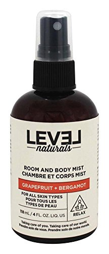 Level Naturals Body (Level Naturals Room & Body Mist, Grapefruit & Bergamot Scented | Personal and Home Aromatherapy Spray 4 Oz)