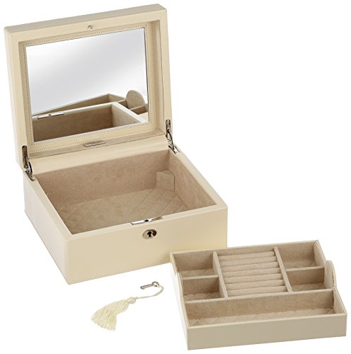 WOLF 315253 London Square Jewelry Box, Cream by WOLF (Image #1)