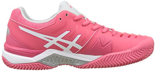 Multicolore Clay Blu white challenger rosa Grey Chaussures Gel De Red Asics Tennis Scuro Femme rouge 11 glacier pATtq