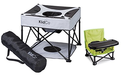 KidCo Go Pod Portable Activity Seat with On The Go Booster, Midnight